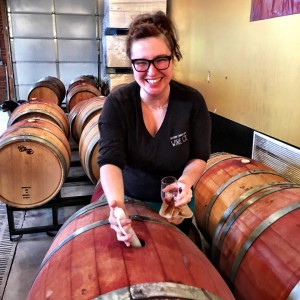 amanda-topping-off-barrels