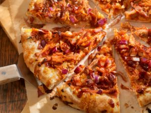 Red hot chicken mini pizzas  recipe and Riesling pairing