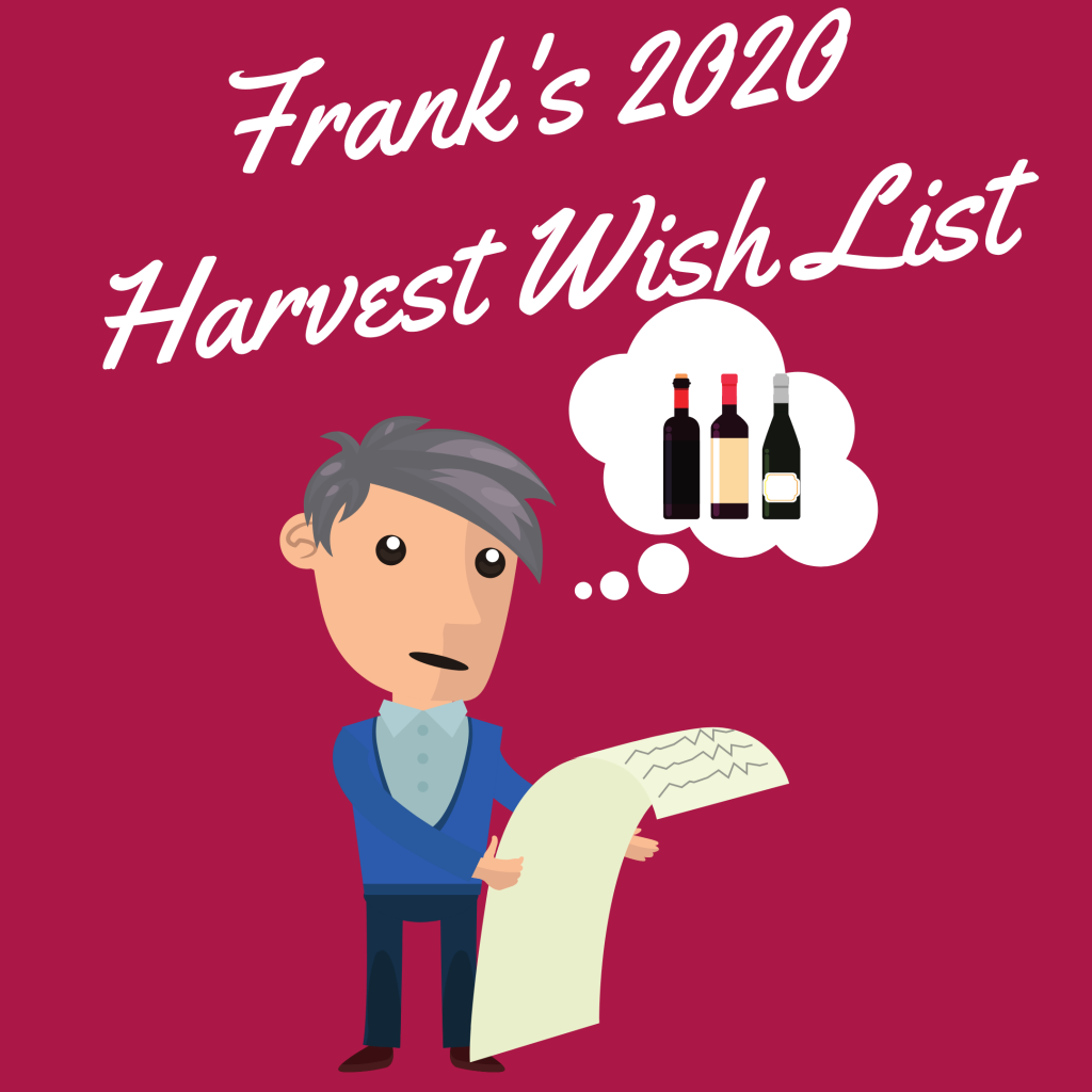 Frank's 2020 harvest Wish List