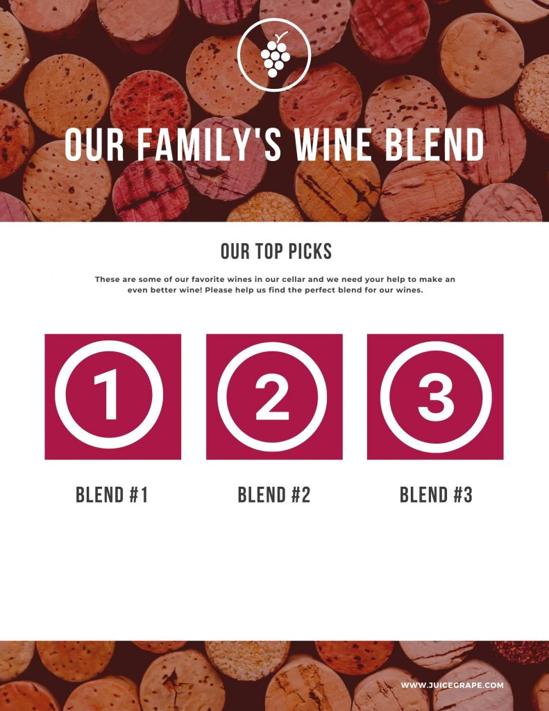Our family's wine blend