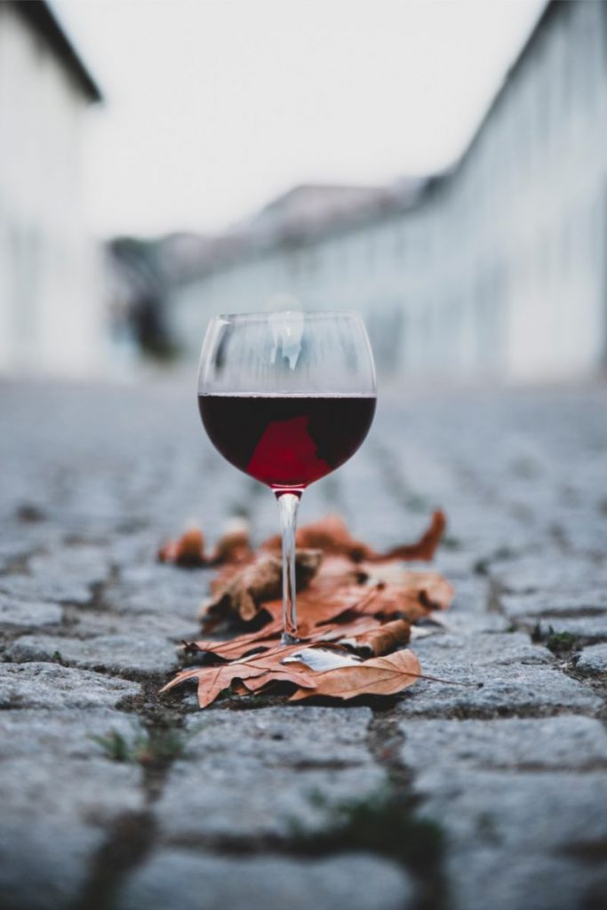 red wine fall